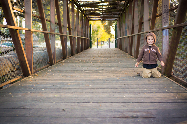 My son on the troll bridge