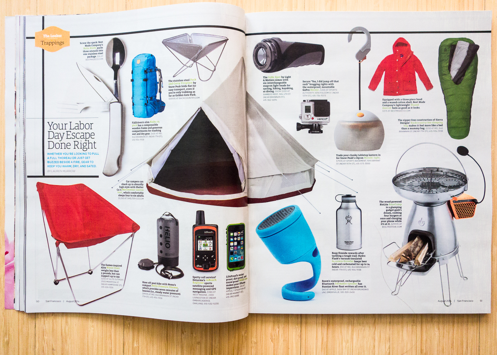 SF Mag on Labor Day Essentials