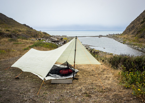 Borah Bivy combined with a Tarp