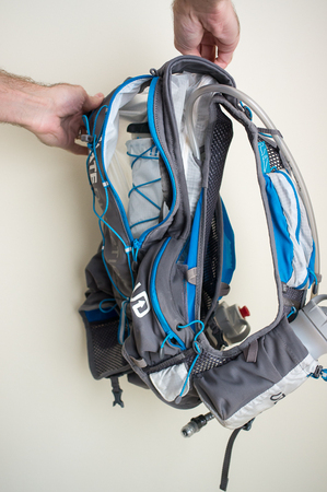 Hydration Bladder laced in Place