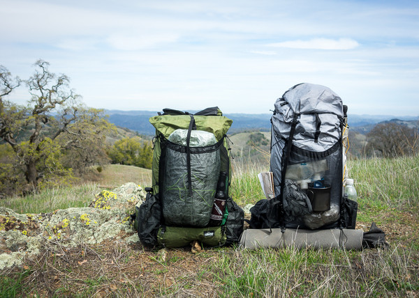 Two of a Kind. ZPacks Multipack as lid at right.