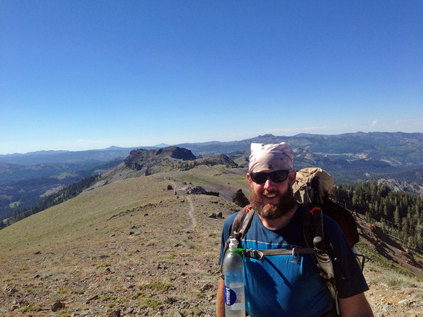 Max on the PCT with Aqua Clip