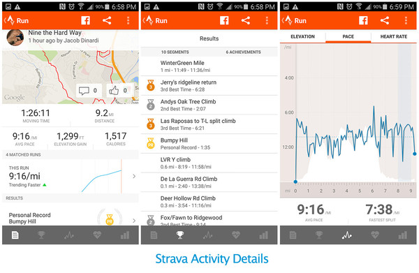 Strava Screen Captures