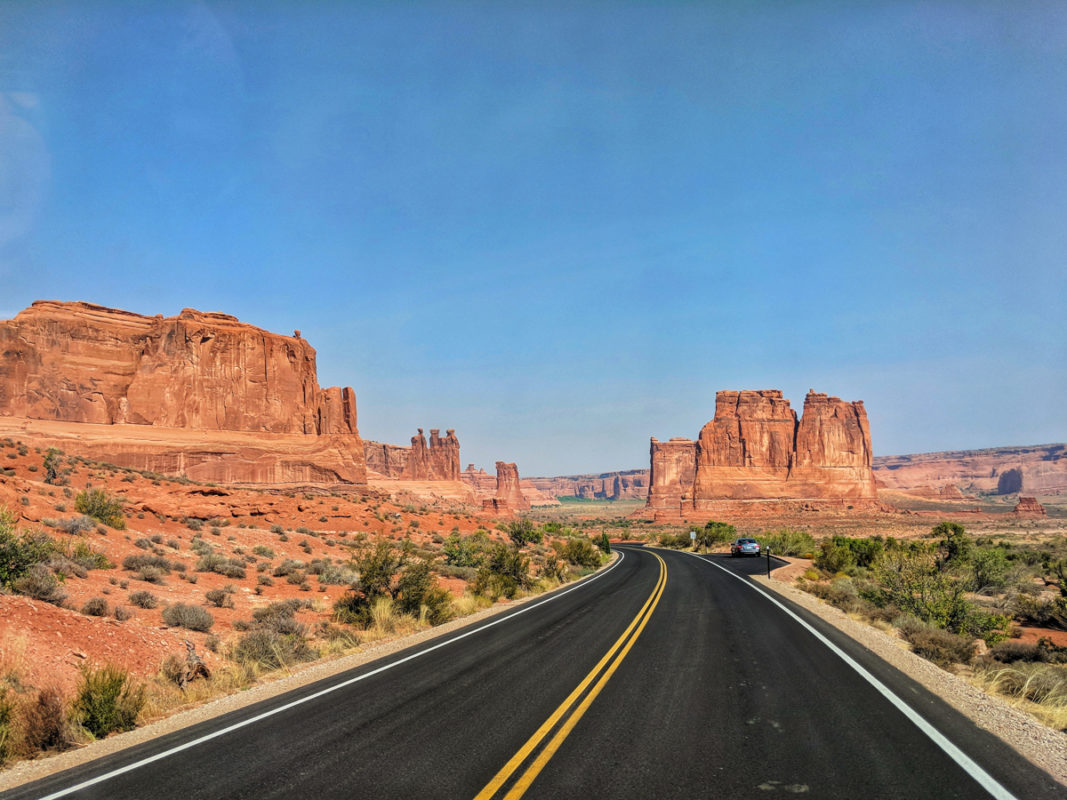 Heading to Arches