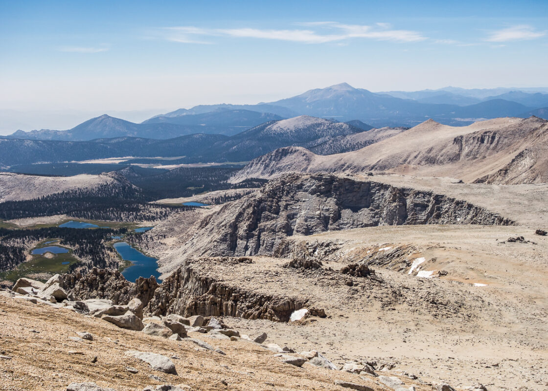 View of Cottonwood Lakes Basin from Langley