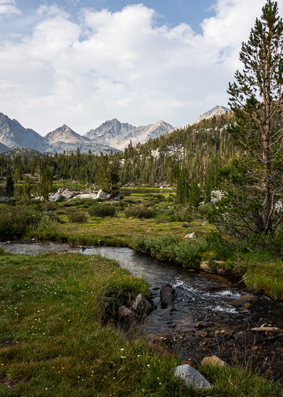 Streams and Lakes in Little Lakes Valley