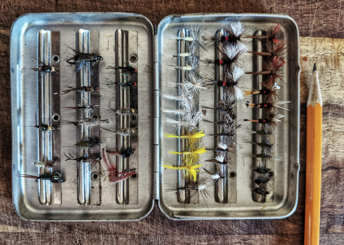 Assortment of nymphs and dry flies