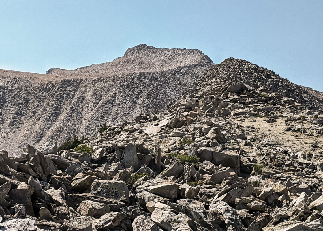 View of the summit from the North ridge